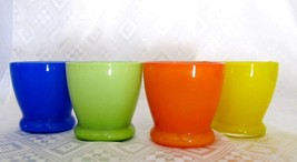 YANKEE CANDLE VOTIVE CANDLE HOLDERS SET OF 4  MIXED COLORS - £9.95 GBP