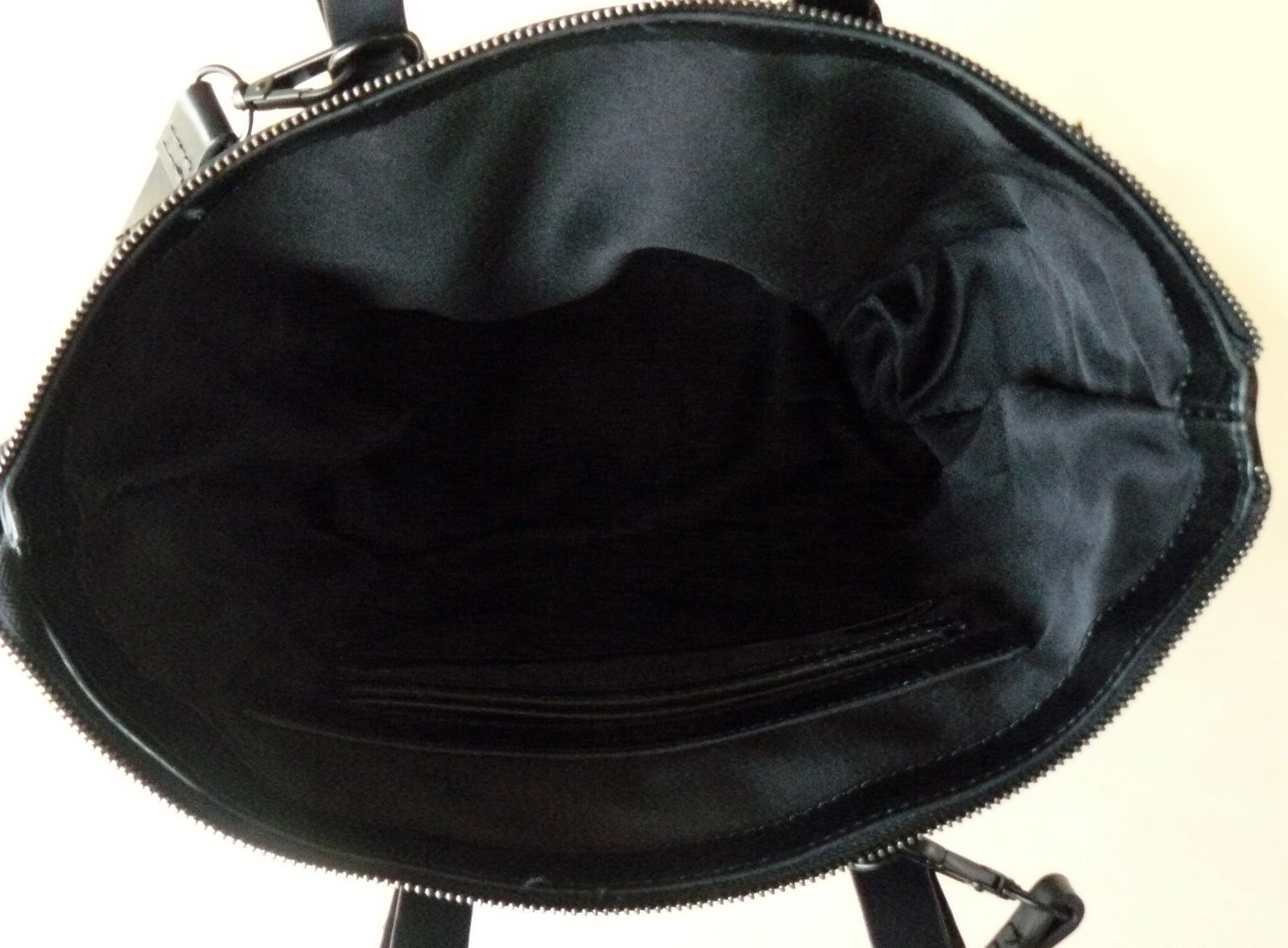 Zara Black Faux Leather Tote Shopper Shoulder Bag Vegan Friendly