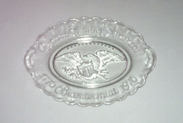 Vintage Avon Bicentennial oval eagle plate clear glass 1776 1976 - $2.00