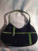 Franco Sarto Black/ Green Small Shoulder Bag - $19.78