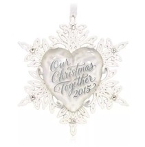 HALLMARK Ornament Our Christmas Together 2015 NEW FREE SHIPPING - $19.95