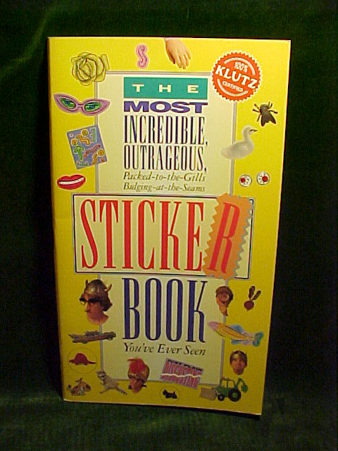 Most incredible sticker book