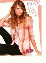 Taylor Swift teen magazine pinup clipping on the floor black pants hotti... - $1.50