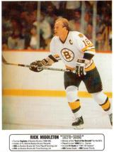 Rick Middleton Boston Bruins Vintage 8X10 Color Hockey Memorabilia Photo - $6.99