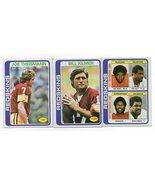 1978 Topps Washington Redskins Team Set with Theismann, Kilmer, and Houston - $4.78