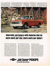 Vintage 1968 Magazine Ad For Chevrolet Trucks Job Tamers Power Strength ... - $5.93