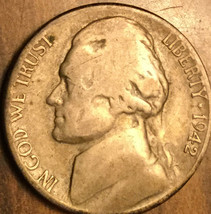 1942 S USA JEFFERSON .350 SILVER 5 CENTS COIN - $4.00