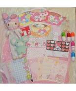 KAWAII SANRIO MY MELODY STATIONARY MEMO STICKER PLUSH PEN SET - $10.00