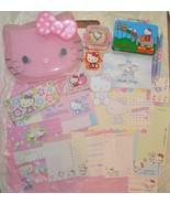 KAWAII SANRIO HELLO KITTY STATIONARY MEMO STICKER STORAGE CASES ERASER P... - $12.00