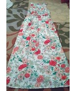 Old Navy long floral sleeveless dress women's size M Petite - $32.50