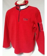 VTG 90'S Tommy Hilfiger Color Block Flag Spell Out Fleece sweatshirt Men... - $29.69