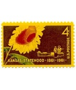 1961 4c Kansas Statehood, 100th Anniversary Sco... - ₨63.88 INR
