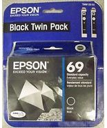 Epson 69 Black Twin Pack Ink Cartridges.T069120-D2 New & Sealed. Exp: 7/2015 - $20.00