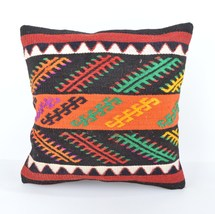 Kilim Pillow 16x16 anatolian pillow,authentic, gypsy, turkish kilim pill... - $14.00