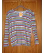 NWT Fresh Produce Top Skye Boardwalk Stripe 3/4 Sleeve Top, Size L - $18.59