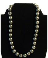 "Fine Pearlfection 18"" Pearl Necklace Rhinestone Ball Clasp Estate Jewelry - $94.98"