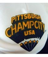 Pittsburgh Champ City USA Snapback Baseball Trucker Hat Mesh One Size Ad... - $37.27