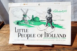 1946 Calendar Little People of Holland Photos by A. Carre Rotterdam - $13.99