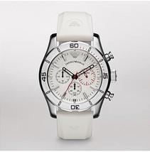 EMPORIO ARMANI AR5947 - WHITE SPORTIVO CHRONOGRAPH MENS WATCH - $175.89