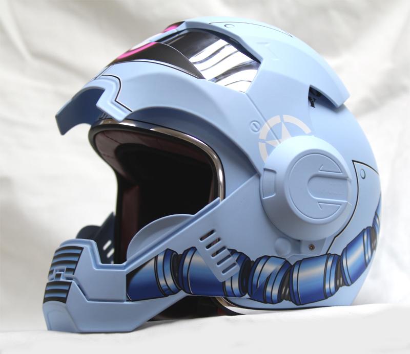 masei 610 gundam zaku matt blue motorcycle helmet helmets