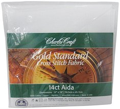 DMC CR5440-6750 Classic Reserve Aida, 12 by 18-Inch, White, 14 Count - $29.61