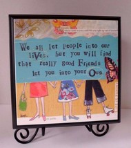Demdaco Curly Girl Design GOOD FRIENDS Wall Art with Stand #14644 - $19.55