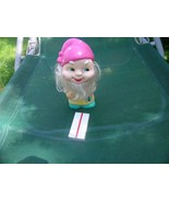 Vintage Russian Soviet Rubber Toy Gnome 1970 - $12.86