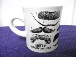 GREAT MOUSTACHES CERAMIC COFFEE MUG INTERESTING UNIQUE  - $4.99