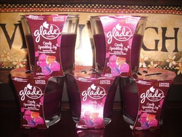 5 Glade CANDY SPRINKLING JOY Jar Glass Holiday Candles 3.4 oz each Candle - $39.35