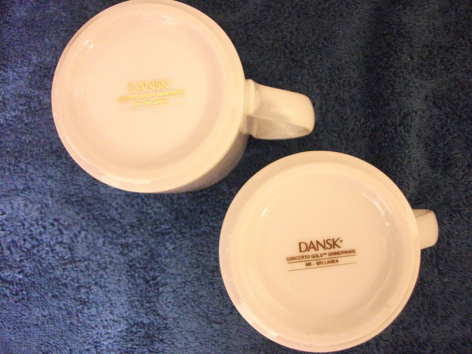 ... DANSK WHITE WITH GOLD TRIM CHINA MUGS CONCERTO GOLD BEAUTIFUL SET OF 2 ... & Dansk White With Gold Trim China Mugs and 50 similar items