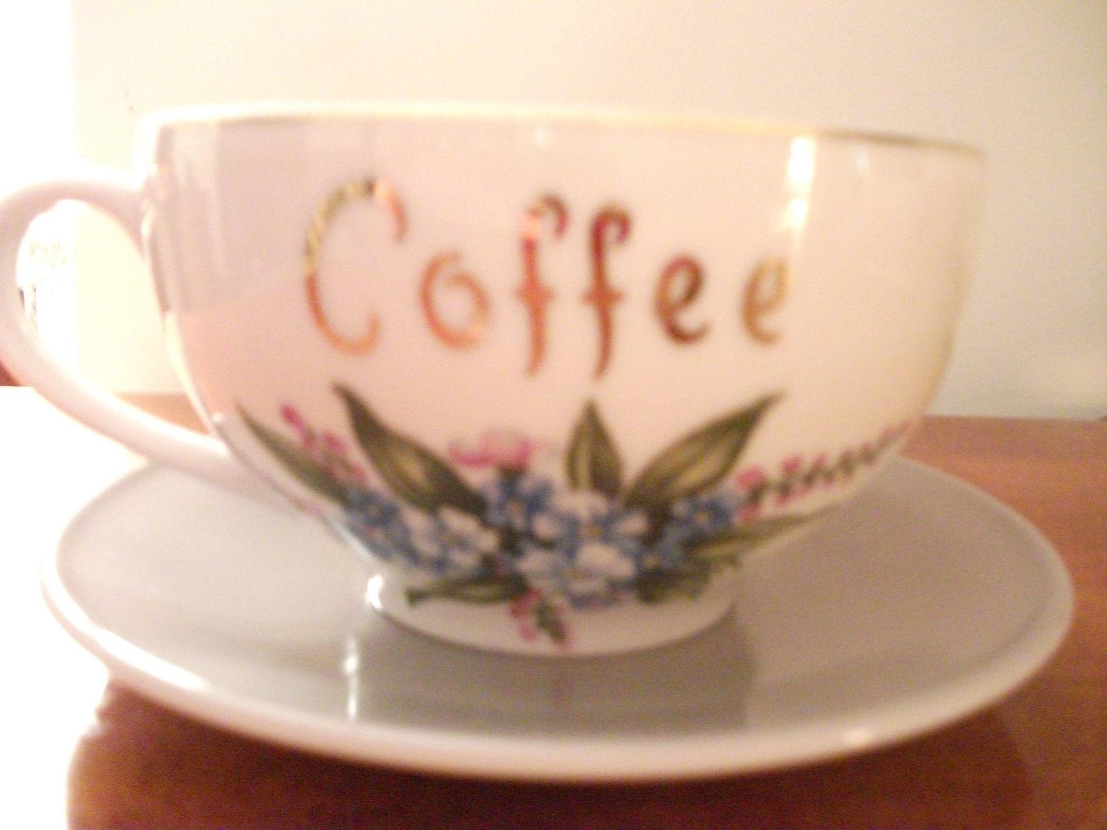 Dad Extra Large Teacup Tea Cup And Saucer Coffee Mug New