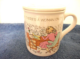 "HALLMARK MUG MATES CERAMIC COVERED COFFEE MUG ""RELAX THERE'S A WOMAN ON ... - $4.99"