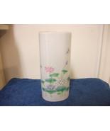 OTAGIRI CERAMIC VASE LOTUS GARDEN JAPAN PRETTY NEW - $18.68