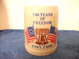 Ceramarte Usa Bicentennial Beer Stein Mug 200 Years Of Freedom 1776 1976 New - £13.58 GBP