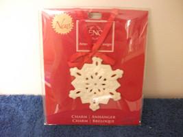 Lenox Snowflake Christmas Tree Or Winter Ornament Charm New - $14.01