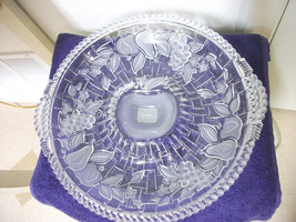 GORHAM CHIP & DIP BOWL DISH CRYSTAL GLASS SPRING TRADITIONS LARGE BEAUTI... - $46.74