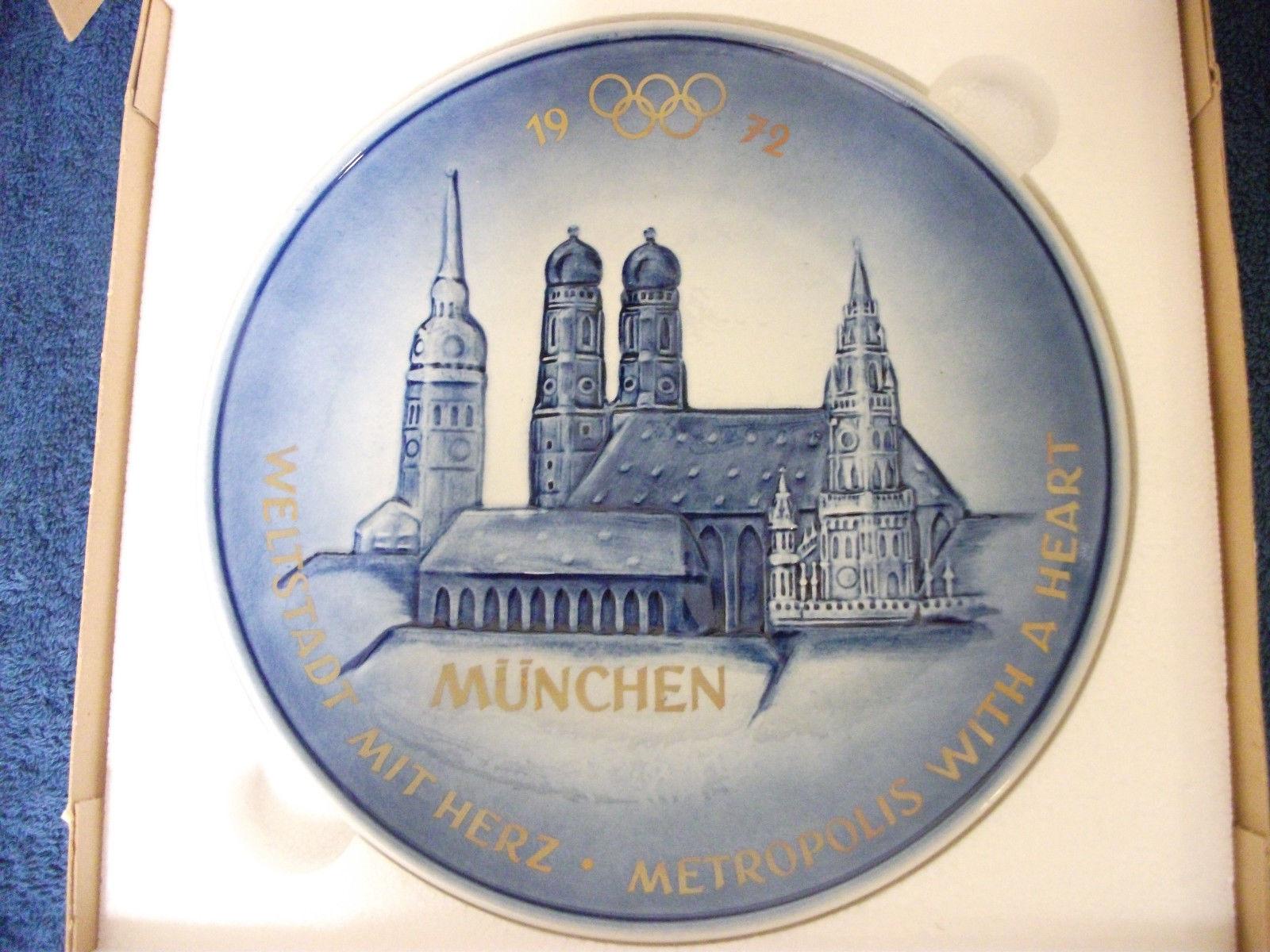 GOEBEL MUNCHEN 1972 OLYMPICS PLATE  EXCELLENT - $18.68