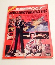 JAMES BOND'S GREATEST HITS THEMES OF 007 PIANO VOCAL CHORDS 1986 - $17.82