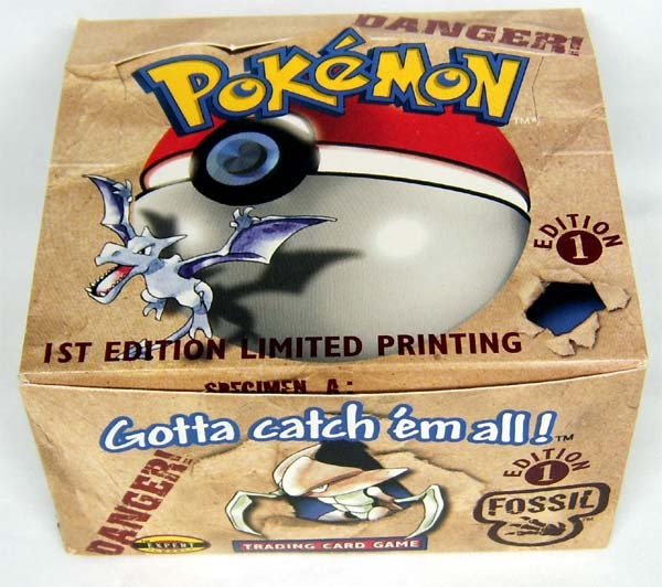 Fossil 1st edition 1 empty booster box