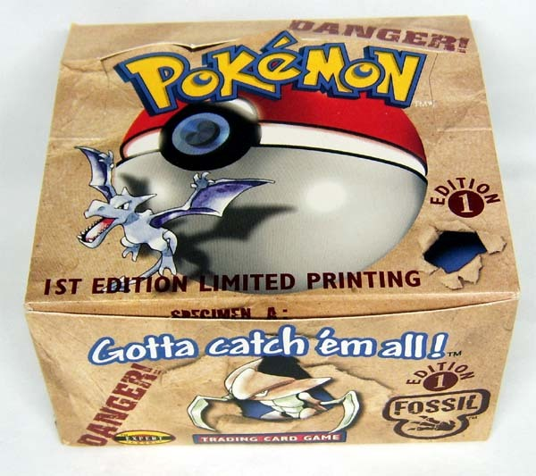 Fossil 1st Edition Pokemon Empty Booster Box Display Boxes