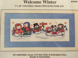 Design Works WELCOME WINTER Counted Cross-Stitch Picture Kit - Brand New... - $17.50