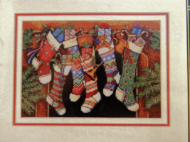 Dimensions Gold Collection THE STOCKINGS WERE HUNG Counted Cross-Stitch ... - $17.50