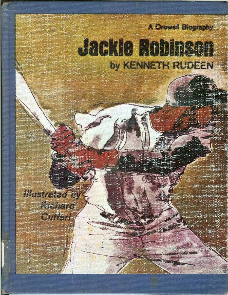 Primary image for 1971 jackie robinson book by kenneth rudeen brooklyn dodgers