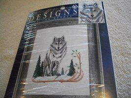 Wolf Counted Cross Stitch Kit: Comes with Fabric, Floss, Needle & Direct... - $22.00