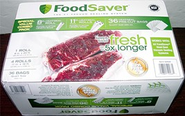 """FoodSaver Special Value Combo Pack """"5 Rolls + 36 Qt Bags"""" - $45.00"""