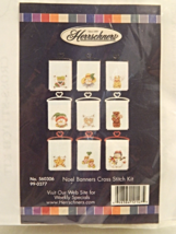 Herrschners NOEL BANNERS Cross-Stitch Kit - Set of 9 - Brand New in Pack... - $17.50
