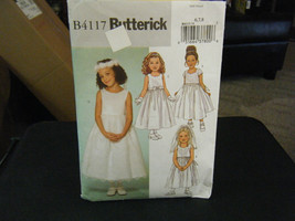 Butterick B4117 Girl's Formal Dresses Pattern - Size 6/7/8 - $11.87