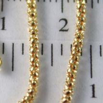Gold bracelet Yellow or White 750 18k Trash, Mini 2 MM, 19 cm, Made in Italy image 3