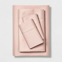 Twin 500 Thread Count Tri Ease Solid Sheet Set Pink - Project 62  image 1