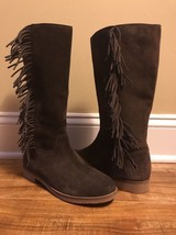 Lucky Brand Womens Drown Suede Fringe Boots Size 6 - $123.75